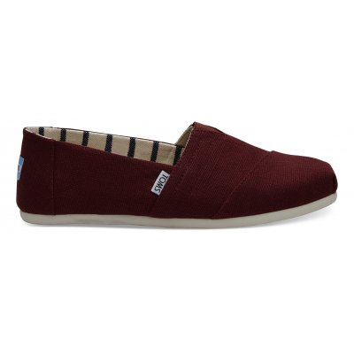 Black Cherry Heritage Canvas Alpargata M