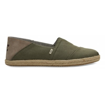 Linch Green Heritage Canvas Rope Alpargata M