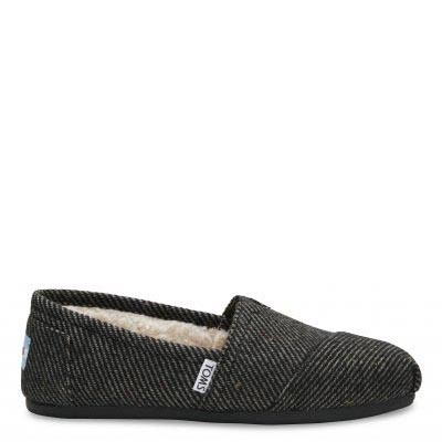 Black Speckled Wool Alpargatas Women