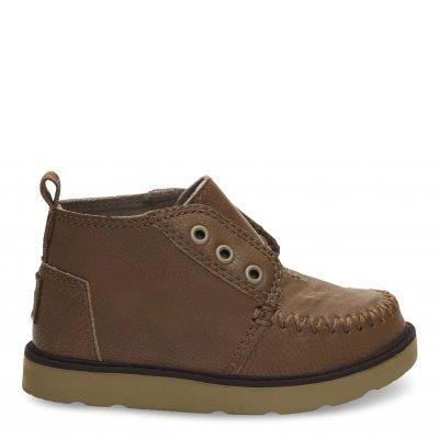 Brown Synthetic Leather Chukka Tiny