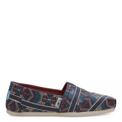Navy Forest Tribal Alpargatas Women