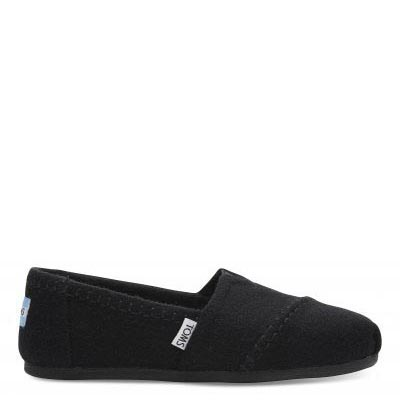 Black Wool Alpargatas Women