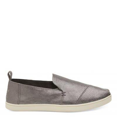 Pewter Leather Cupsole Deconstructed Alpargatas Women