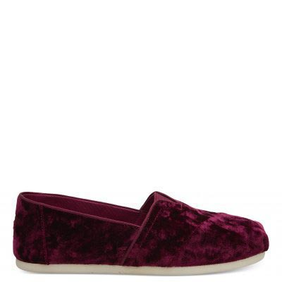 Black Cherry Velvet Alpargatas Women