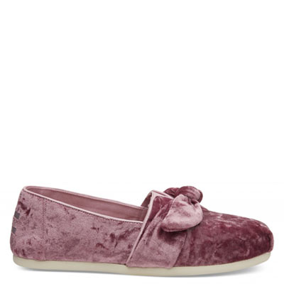 Faded Rose Velvet Alpargatas Women