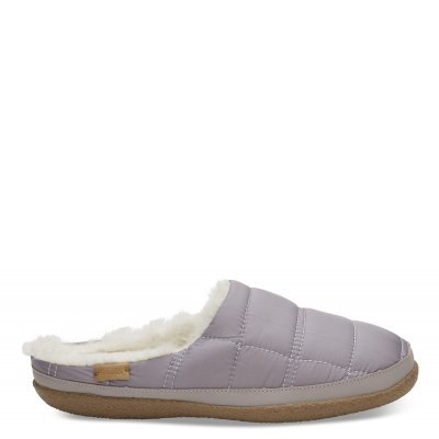 LAVENDER QUILTED SLIPPER W
