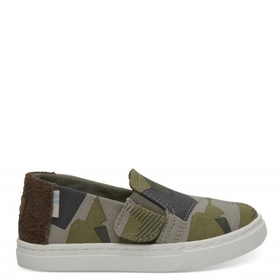 BURNT OLIVE CAMOUFLAGE CANVAS LUCA T