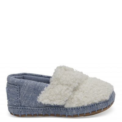 Nat Faux Shearling Crib Alpargata