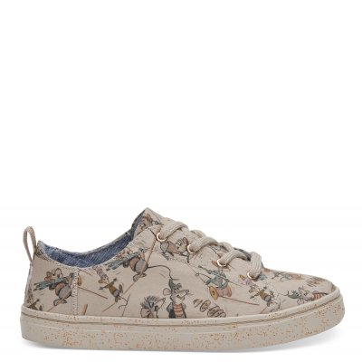 Disney X Toms Taupe Gus & Jaq Youth Lenny Sneakers