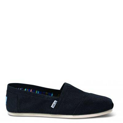 Black Canvas Male Classic Alpargata