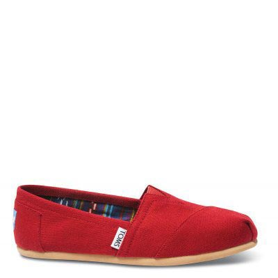 Red Canvas Women Classic Alpargata