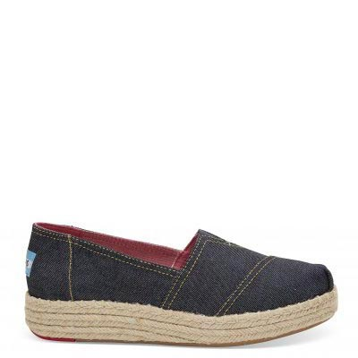 Navy Denim Platform Alpargata Women