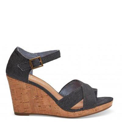 Black Denim Sienna Wedge W