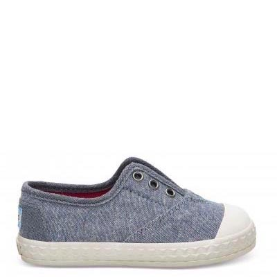 Blue Multi Speckle Chambray Zuma Tiny Sneakers