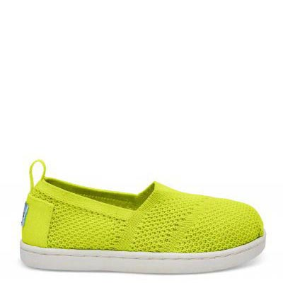 Neon Yellow Mesh Alpargata Tiny