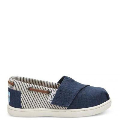 Navy Canvas Stripes Bimbini T
