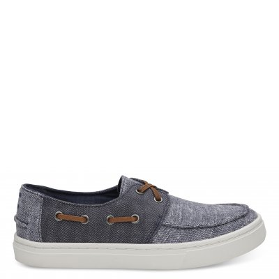 Navy Slub Chambray Culver Y