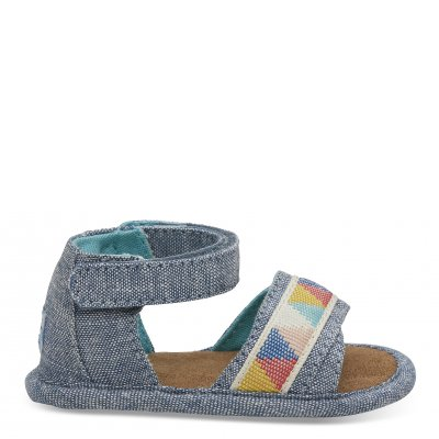 Blue Slub Chambray Crib Shiloh T