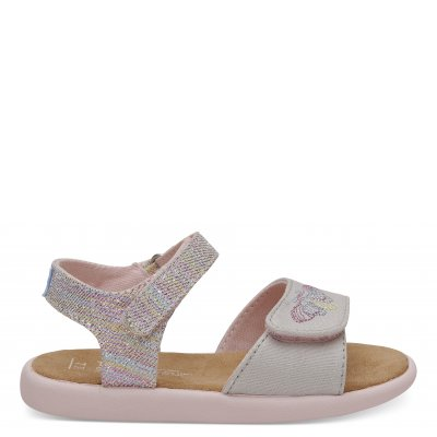 Pink Twill Glimmer Strappy Sandal T