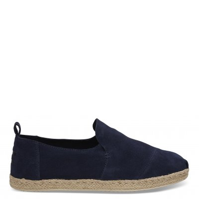 Navy Suede Rope Deconstructed Alpargata M