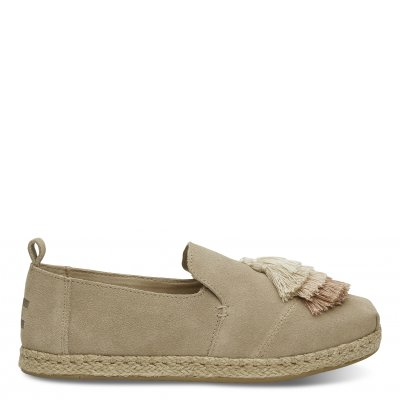 Oxford Tan Suede Tassel Deconstructed Alpargata W