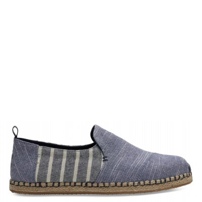 Navy Chambray/Cabana Stripe Deconstructed Rope Alpargata M