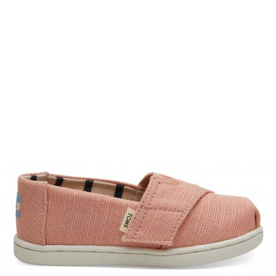 Coral Pink Heritage Canvas Alpargata T