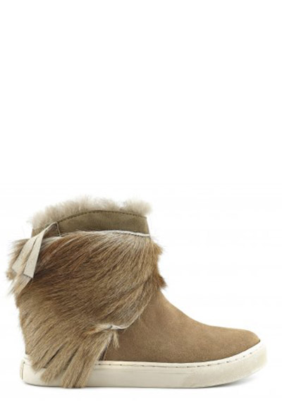 sneaker with antelope fringe