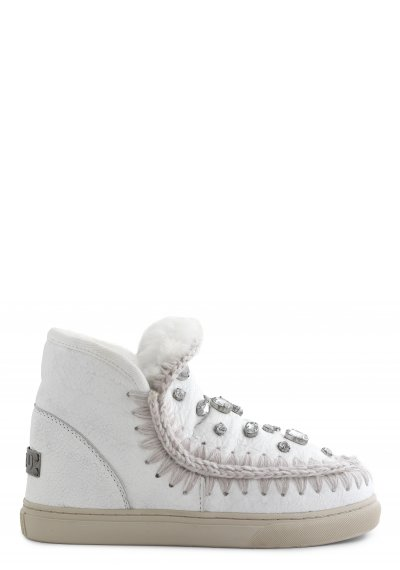 mini eskimo sneaker with rhinestones