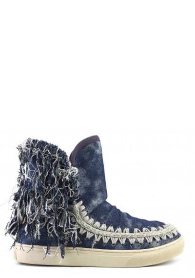 summer eskimo sneaker fringed denim