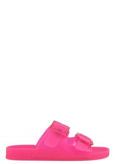 Sandali pvc con fibbie accessorio in plastica